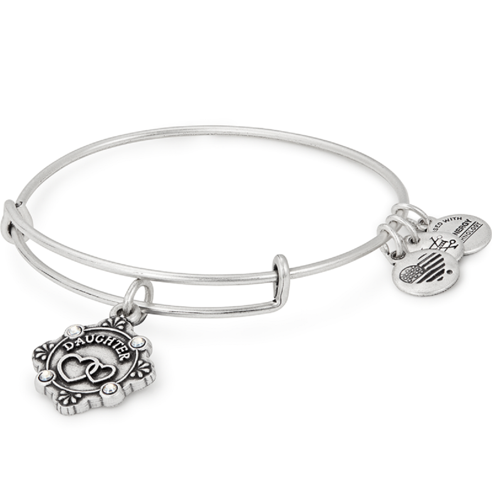 Daughter Because I Love You Charm Bangle