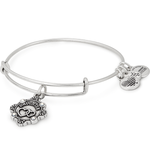 Daughter Because I Love You Charm Bangle | Silver