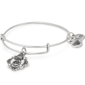 Mom Because I Love You Charm Bangle | Silver