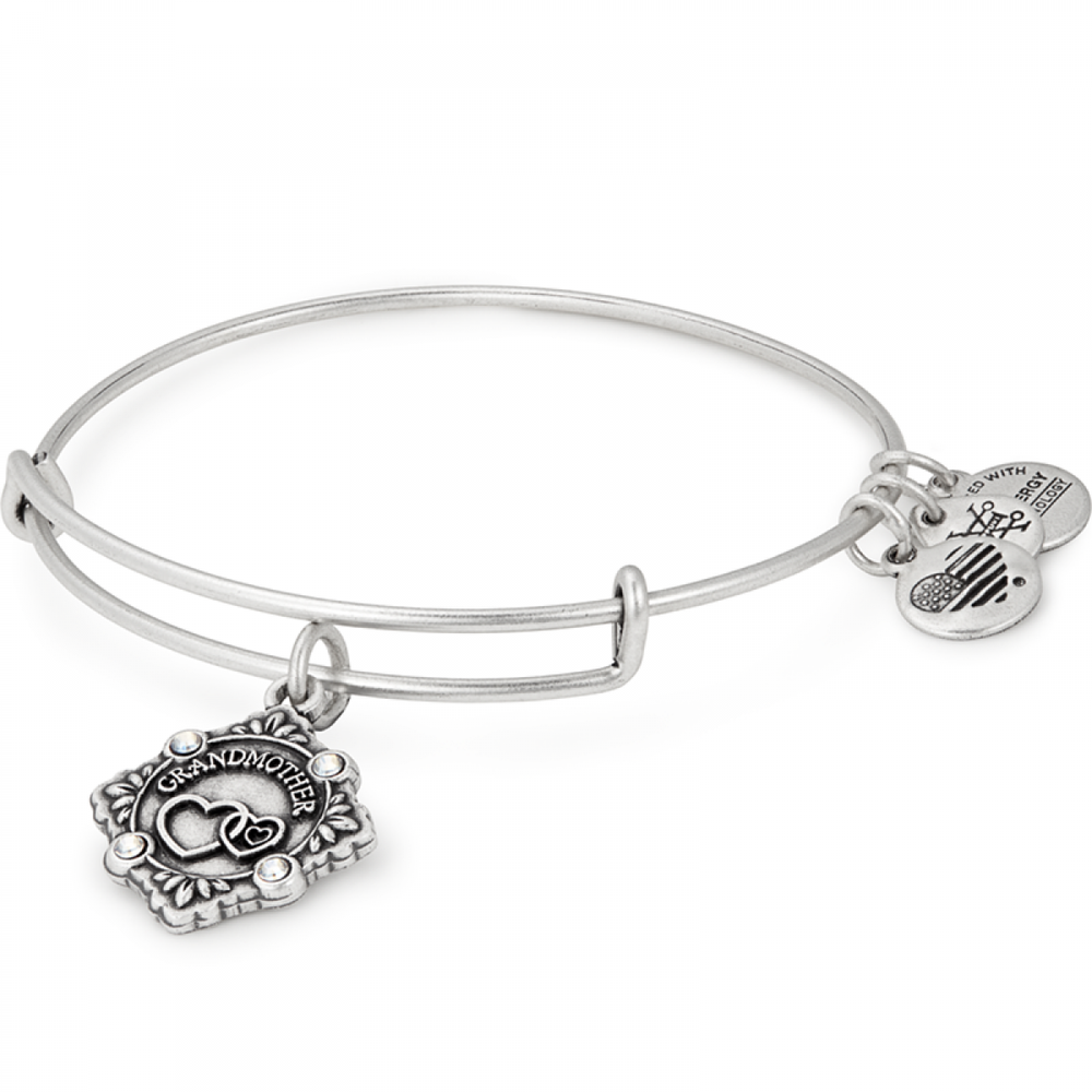 Grandmother Because I Love You Charm Bangle | Silver