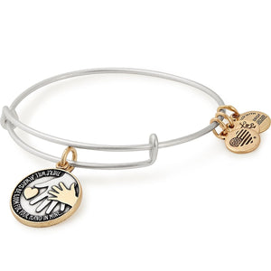 Hand in Hand Two Tone Charm Bangle