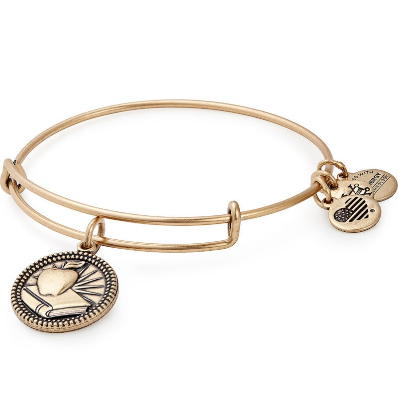 Teacher Charm Bangle | Gold