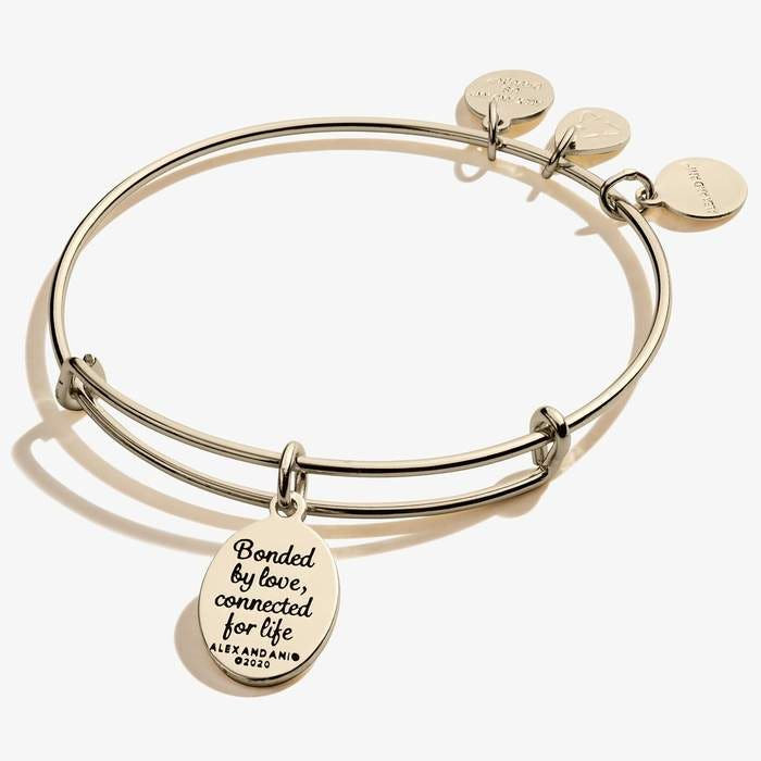 Mom Charm Bangle | Gold