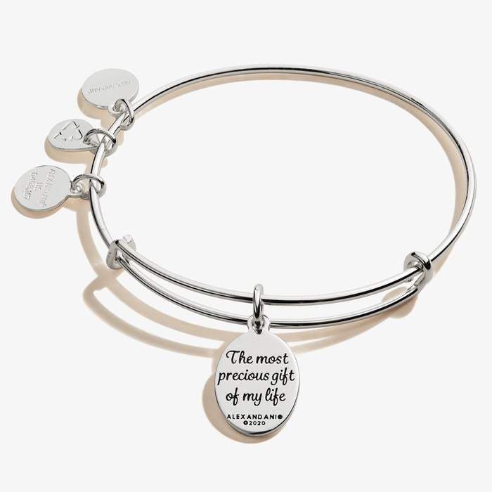 Daughter Charm Bangle | Silver