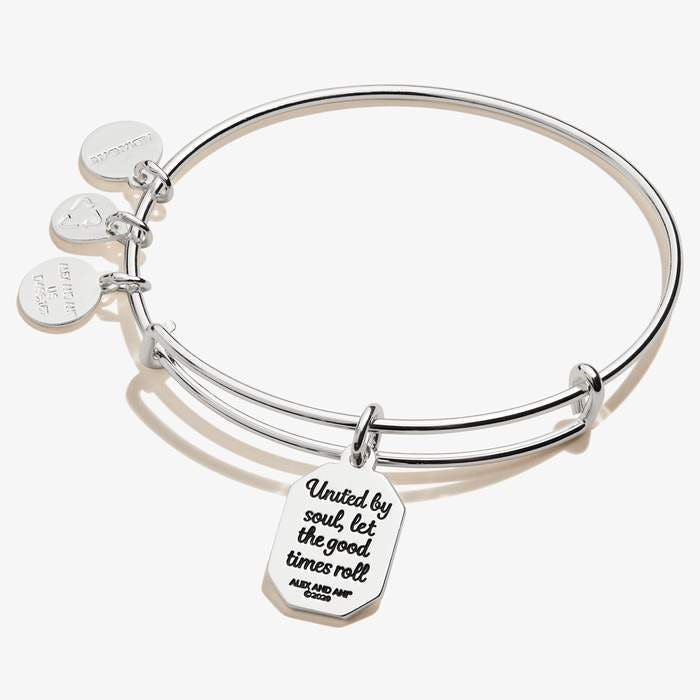 Friend Charm Bangle | Silver