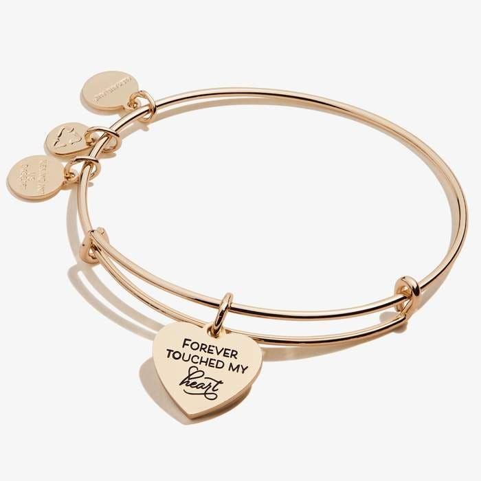 Forever Touched My Heart Charm Bangle | Gold
