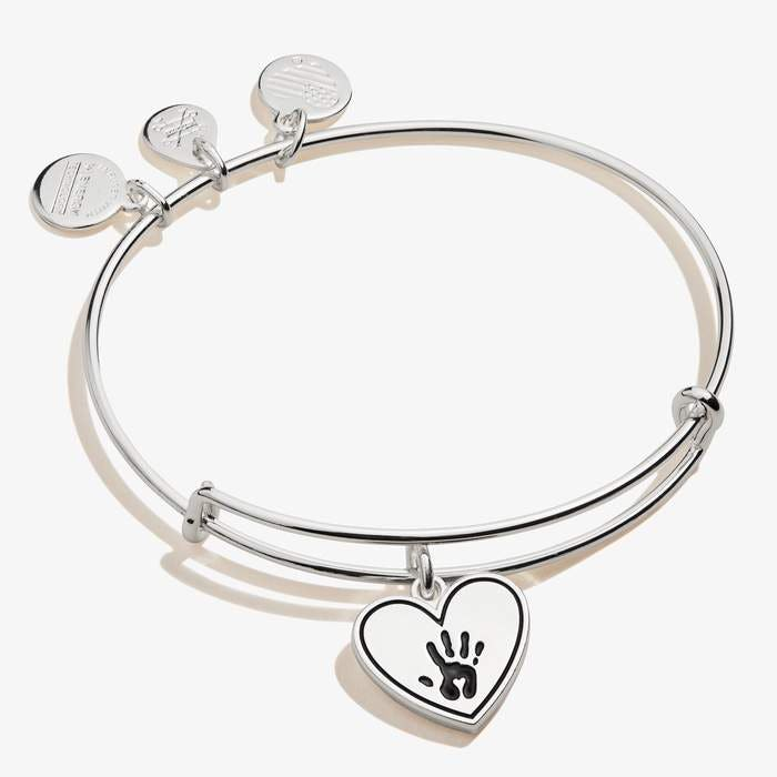 Forever Touched My Heart Charm Bangle | Silver