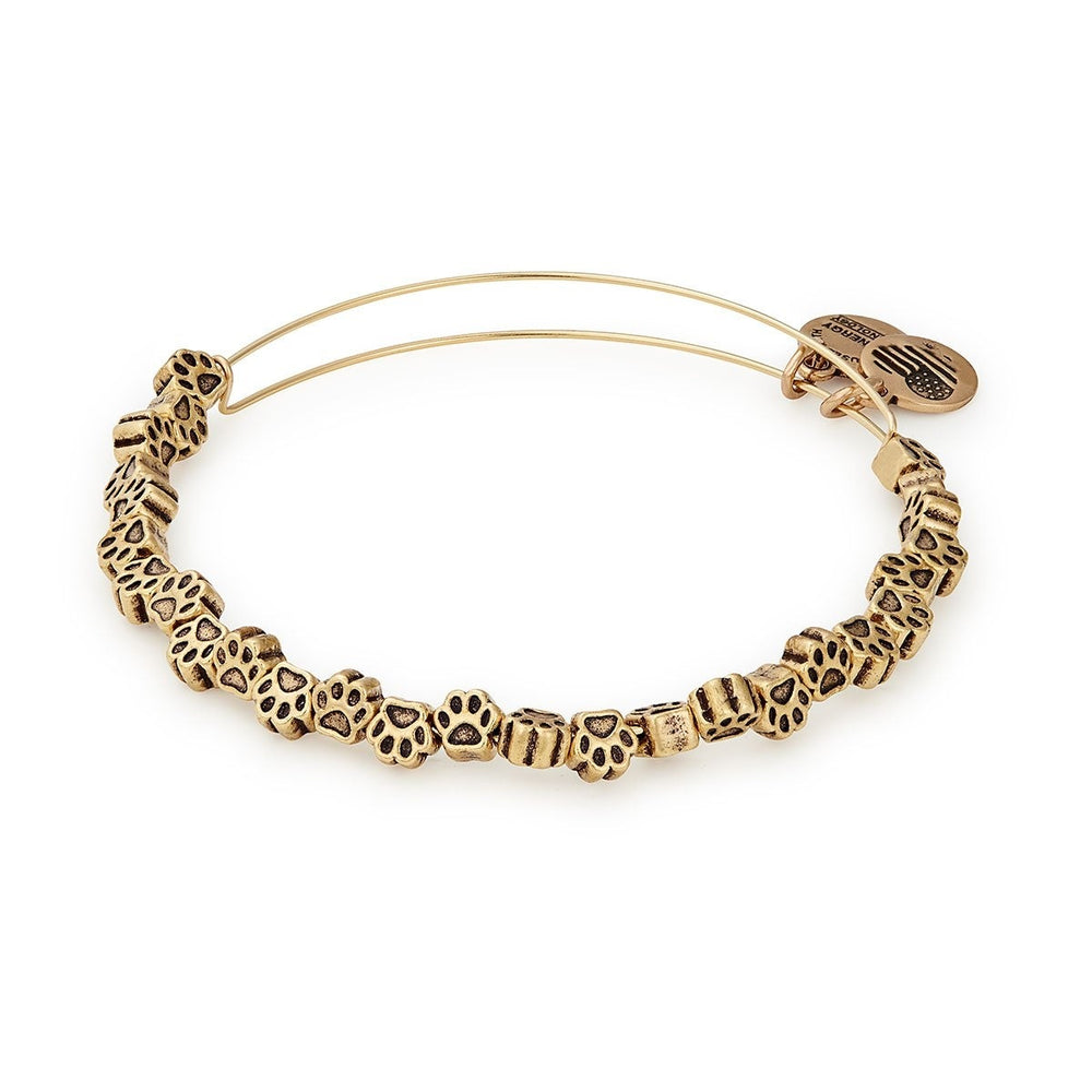 Paw Print Beaded Bangle