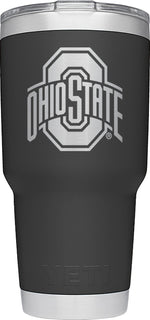 YETI Black Collegiate Rambler 30oz Tumbler: Ohio State University