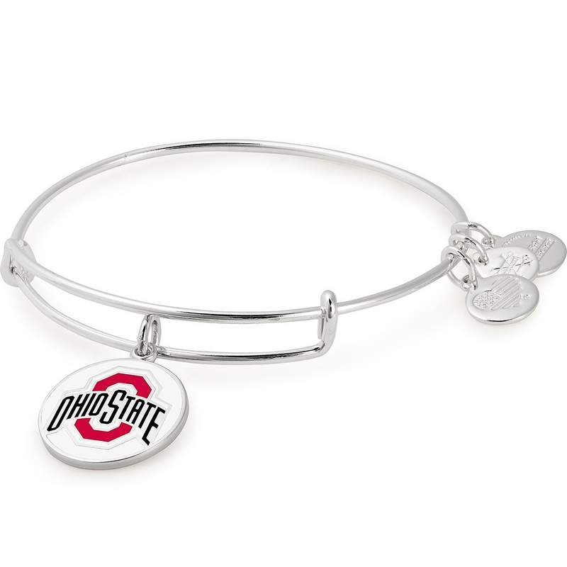 Ohio State University Logo Charm Bangle | Silver
