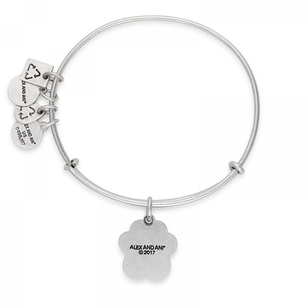 Prints of Love Charm Bangle | Silver