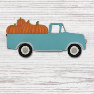 Truck With Pumpkins Magnet