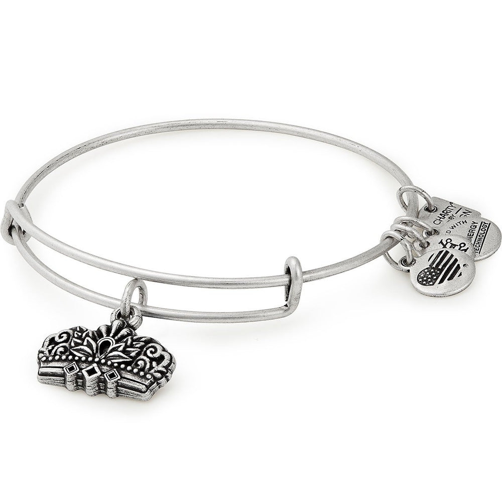 Queen's Crown Charm Bangle