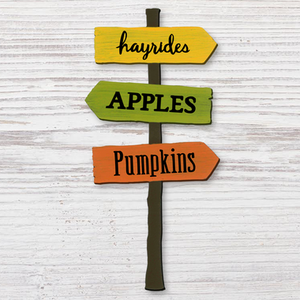Fall Signpost Magnet