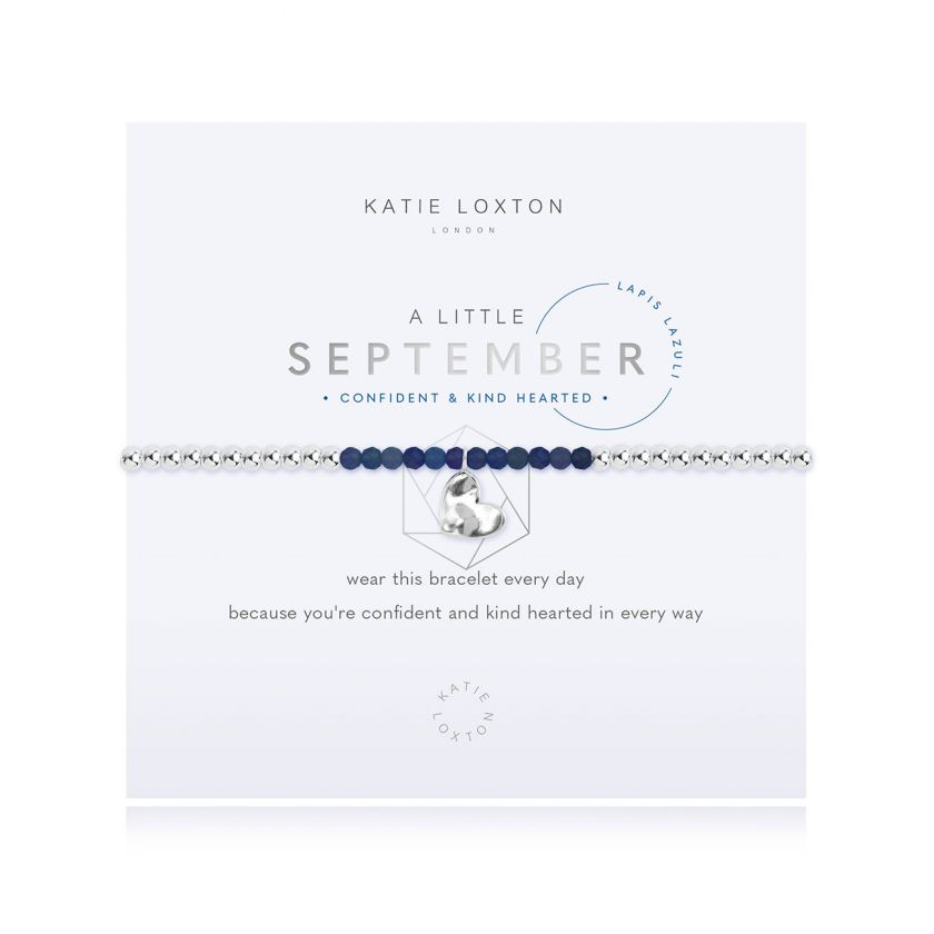 A Little Birthstone September Lapis Bracelet
