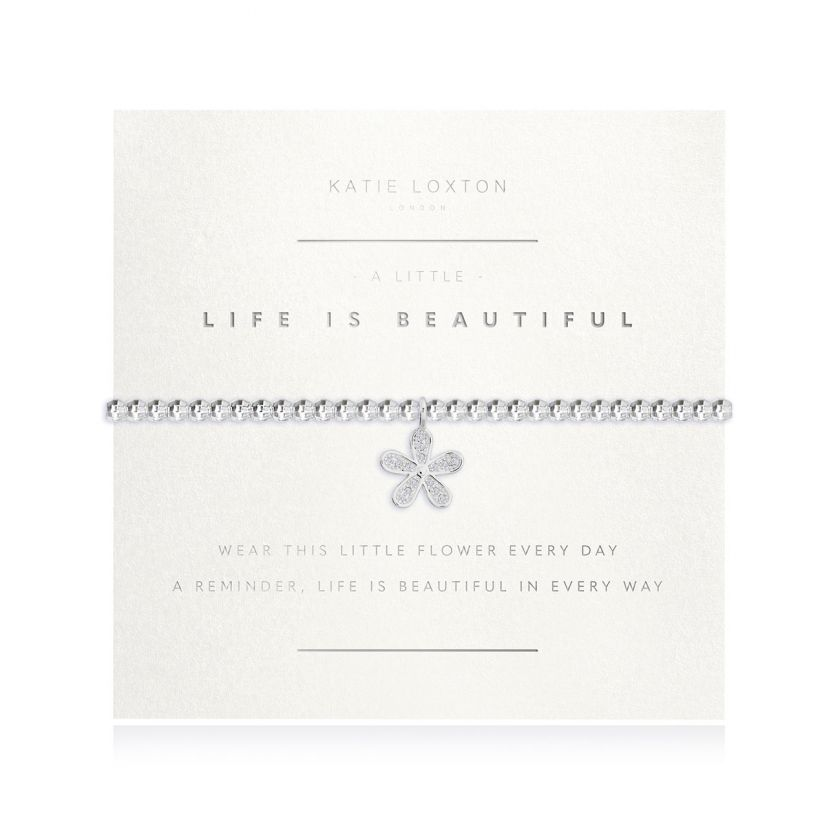 A Little Life Is Beautiful Faceted Bracelet