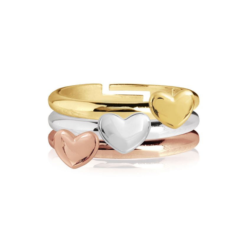 Florence Set Of 3 Heart Rings