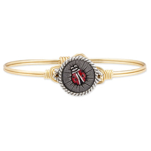 Lady Bug Bangle Bracelet