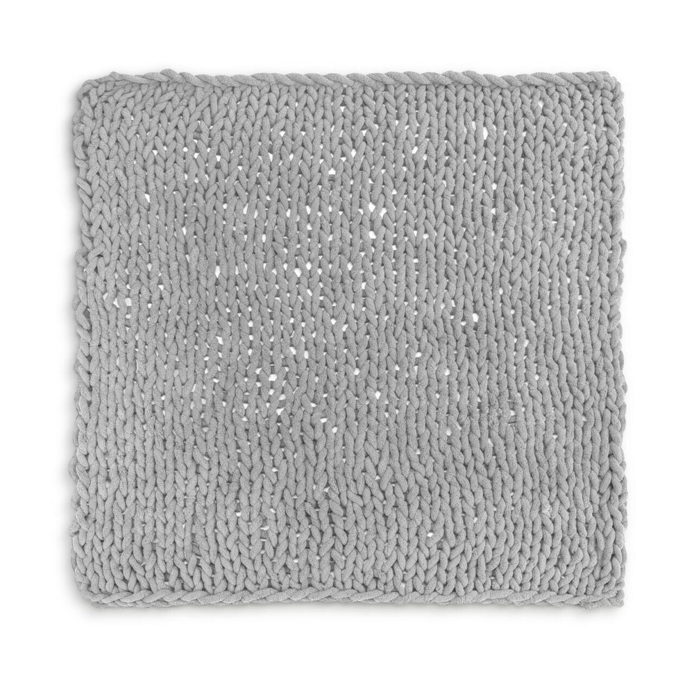 Chunky Knit Blanket | Gray