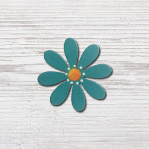 Flower Magnet | Dainty Teal