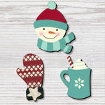 Winter Icons with Mug Magnets