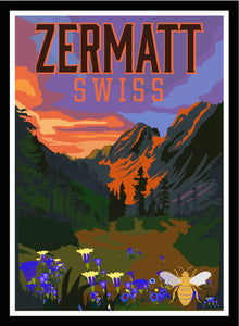 Chilling in Zermatt with the Matterhorn, bee houses, ski, and endless Swiss skies