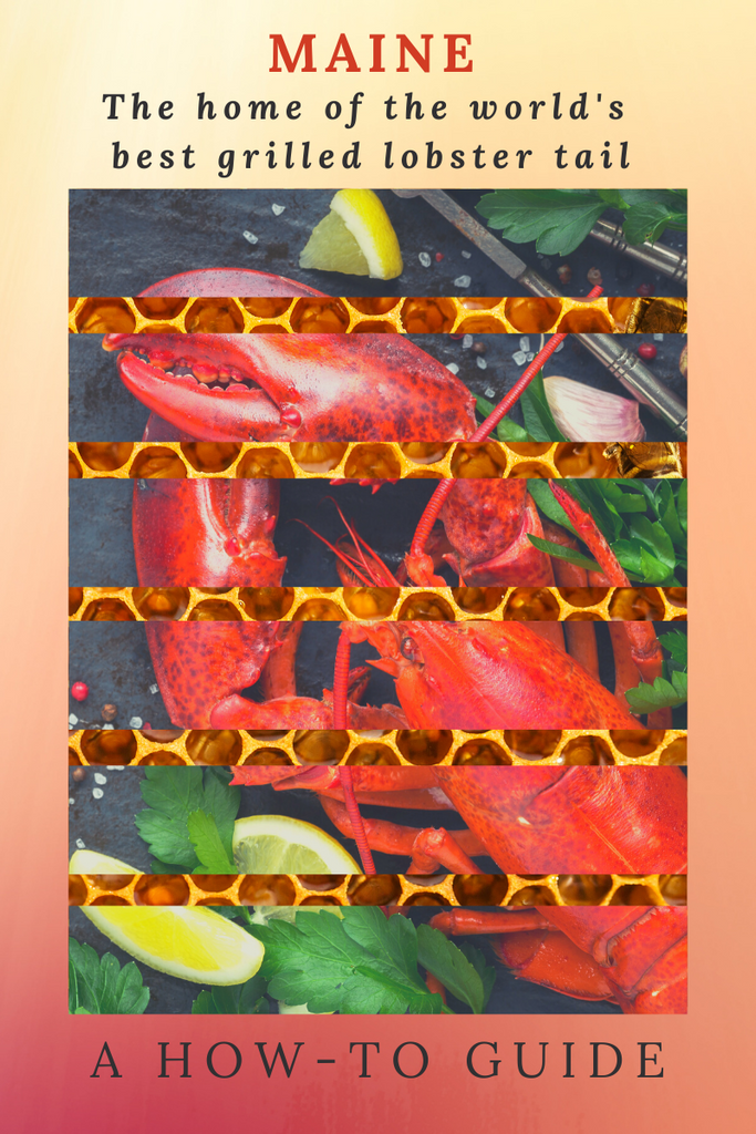 Grilled Lobster Tail with Honey and Butter served with a sizzling side story!