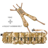 Special Forces Airborne Webbing Set DESERT (4 Pocket Belt + Yoke)