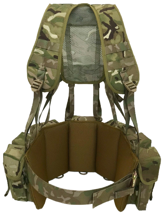 Special Forces Airborne Webbing Set (Yoke + 3 Pocket Belt)