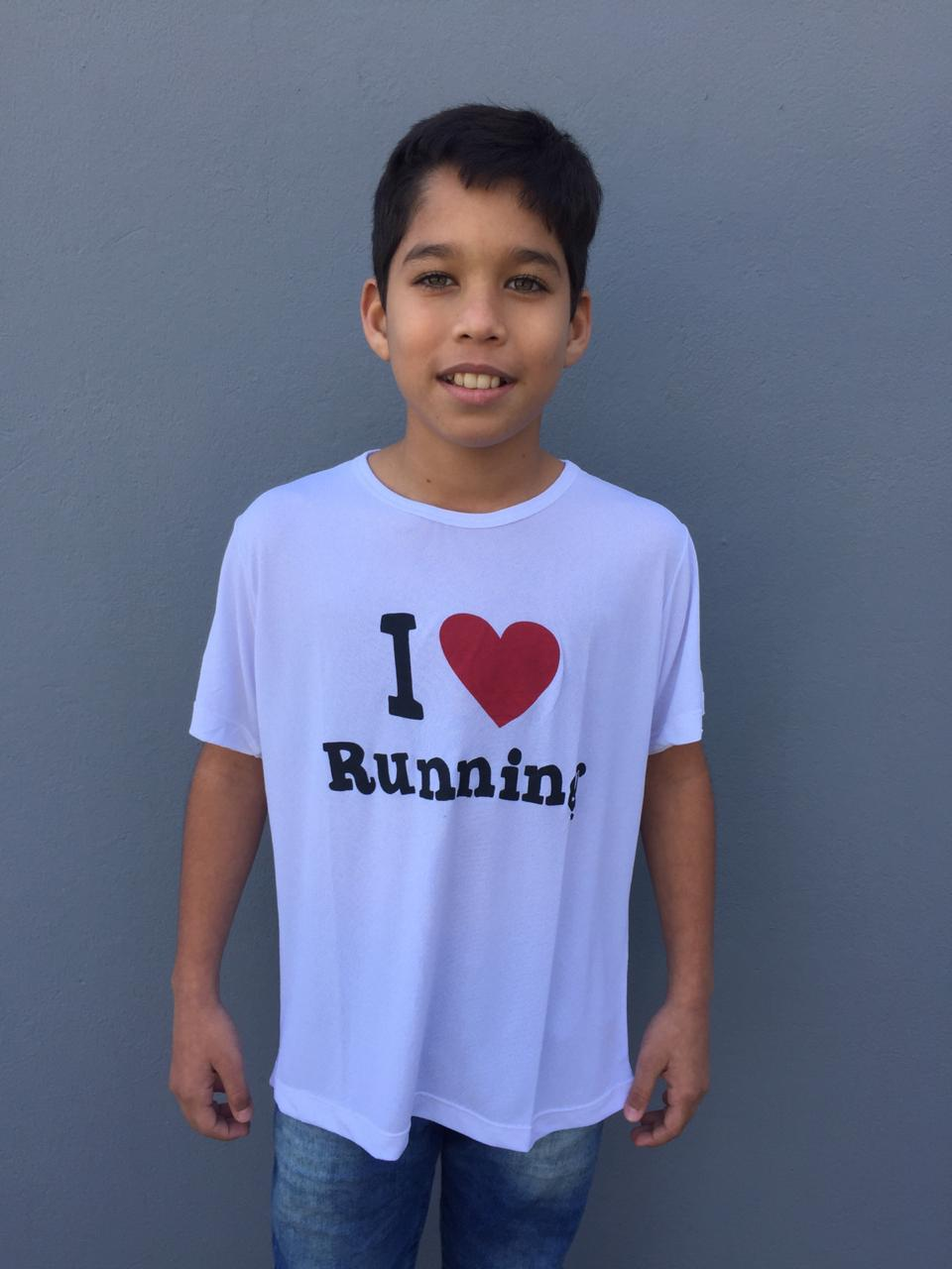 Camiseta Infantil I love Running