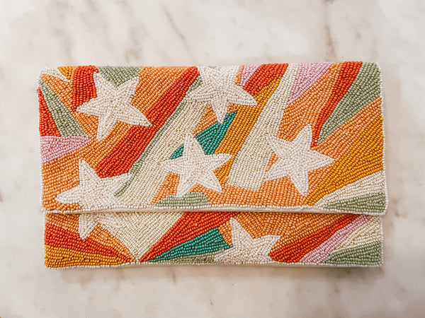Madi Star Beaded Clutch