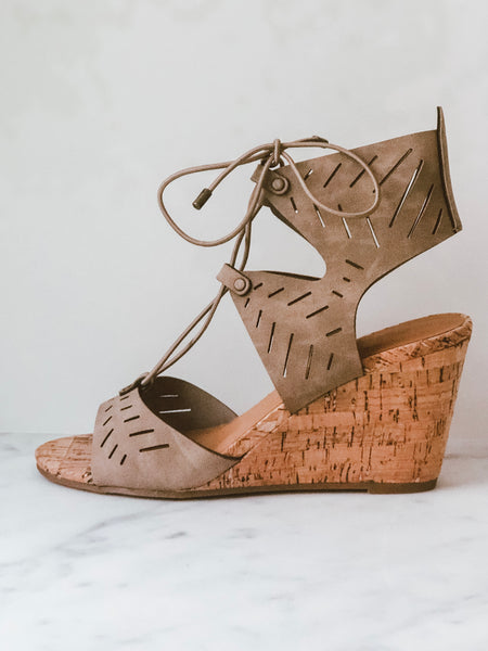 Josie Lace Up Wedge
