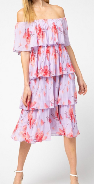 Luna Off The Shoulder Tiered Dress