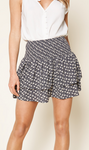 Ella Floral Print Smocked Mini Skirt
