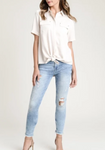 Talia Tie Front Button Down Shirt