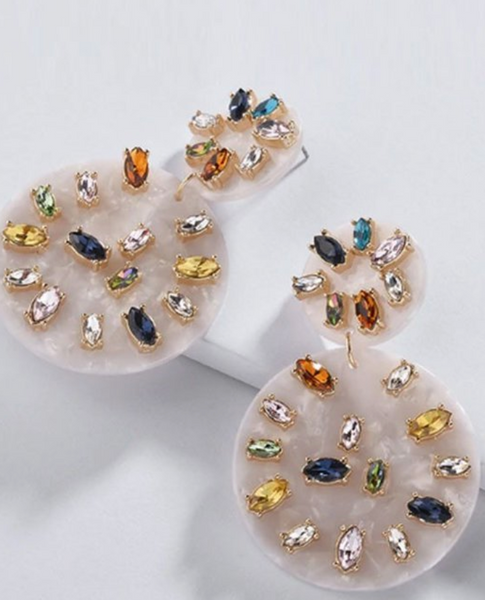 Serena Crystal Drop Earring