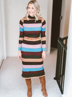 Sophie Striped Sweater Dress
