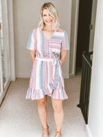 Madison Striped Wrap Dress