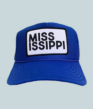 Load image into Gallery viewer, Blue Mississippi Trucker Cap