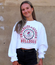Load image into Gallery viewer, University of Georgia Cropped Sweatshirt