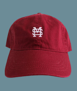 Small Logo Baseball Hat Maroon