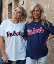 Load image into Gallery viewer, White Rebels Baseball Henley