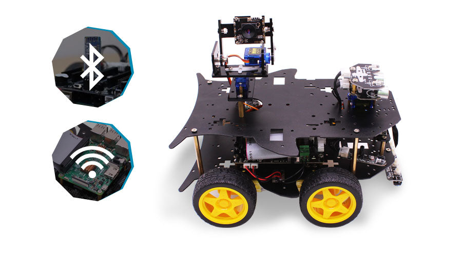 Yahboom 4WD smart robot with WIFI camera for Raspberry Pi 4B/3B+