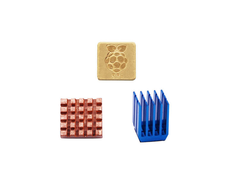 Heatsink Kit Aluminum + Copper for Raspberry Pi 3B+/3B