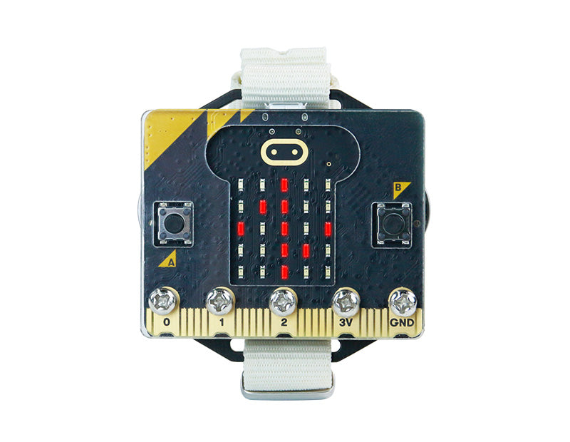 Wrist:bit wearable watch kit based on BBC Micro:bit V2/V1.5 compatible with MakeCode/Python