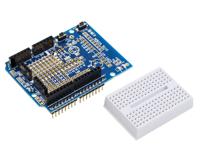Yahboom Uno R3 Prototype expansion board with mini breadboard