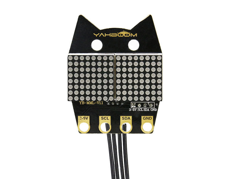 Yahboom LED:bit dot matrix module compatible with alligator clip/DuPont line/PH2.0 cable