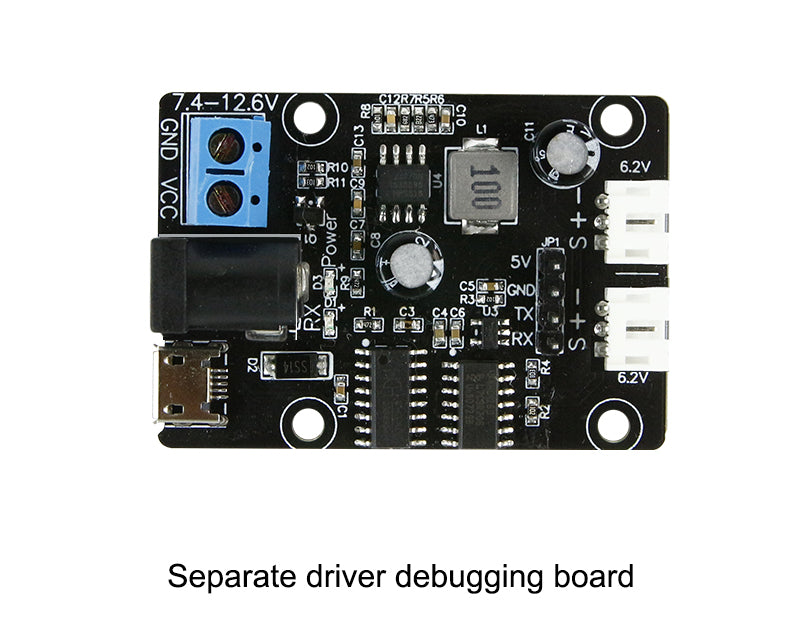 Yahboom 15KG serial bus smart servo and driver debugging board for Robotic Arm