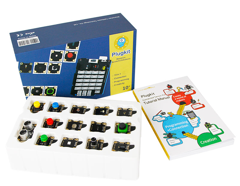 Plugkit Connected Sensor Kit compatible with Arduino