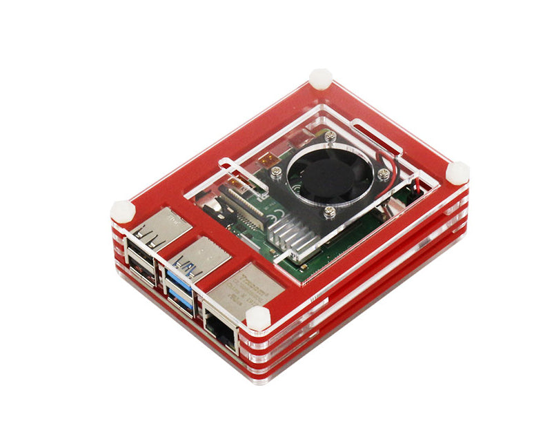 9-layer acrylic protective case with cooling fan for Raspberry Pi 4B